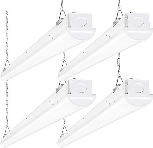 8FT LED Shop Light, 110W 14300LM Linkable LED Garage Light, [6-lamp F32T8 Fluorescent Equiv.] 5000K Daylight, 0-10V Dimmable, Commercial 8 Foot LED Strip Light Fixture -4 Pack