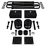 Supreme Suspensions - Full Lift Kit for 2017-2020 Ford F250 F350 Super Duty [4WD] 3' Front Lift Spring Spacers + 2' Rear Lift Blocks + U-Bolts + Brake Line Brackets + Bump Stop Spacers (Black)