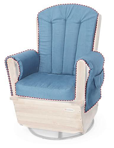 Foundations Saferocker Replacement Cushion Set, Blue