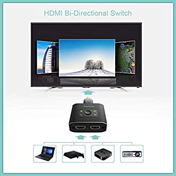HDMI Switch 4K HDMI Splitter-Techole Aluminum Bi-Directional HDMI Switcher 2 Input 1 Output, HDMI Switch Splitter 2 x...