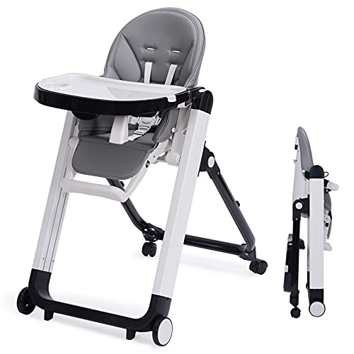 Baby High Chair, 3-in-1 Convertible High Chair with Removable Tray, Adjustable Legs and Cushion for Baby/Infants/Toddlers, Grows with Your Child | Modern Design | Easy to Assemble