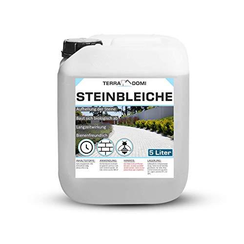Terra Domi 5 Liter Steinbleiche für 250m², Bleichmittel für Plätze & Wege, zur Aufhellung und Reinigung von Steinen, biologisch abbaubar