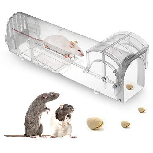 No branded Elinala Trampas para Ratones, Trampa Ratones Vivos, Los Ratones Vivos Capturan y Liberan Jaulas de Plástico, Trampas para Ratas Interiores y Exteriores Respetuosas con El Medio Ambiente.