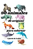 90 animales de origami para colorear: a partir de 3 años