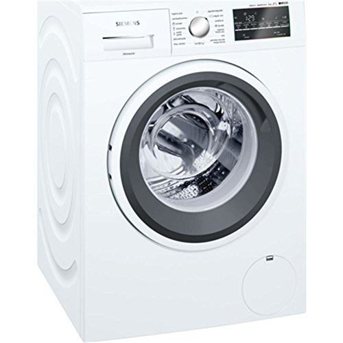Lavadora carga frontal - Siemens WM10T469ES, 8Kg, 1000rpm, LED, Blanco