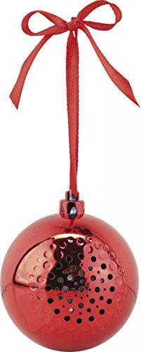 Boule de Noël avec bluetooth et haut-parleur intégré - Rouge [Callstel]