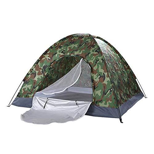 SCLTQ Tienda de campaña ligera para 2 personas, impermeable, doble capa, tienda de campaña al aire libre, tienda de campaña para escalada, pesca, supervivencia, festivales, jardín