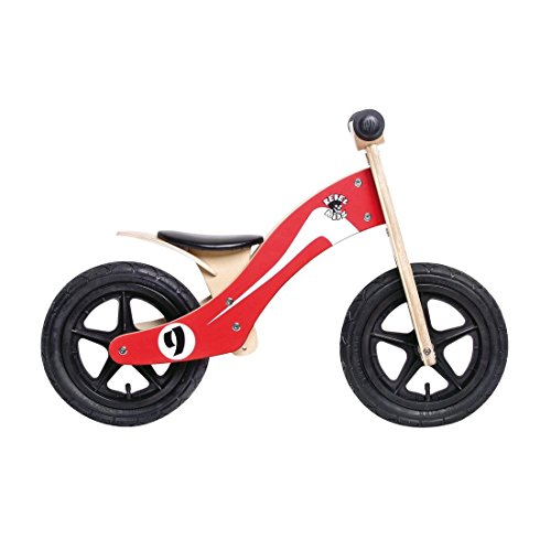 Rebel Kidz Wood Air madera, 12 inch, Retro Racer rojo/blanco