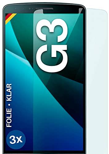 moex Protector de pantalla transparente compatible con LG G3, 3 unidades