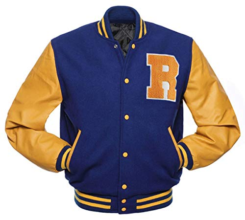 Riverdale Archie Andrews KJ APA Varsity Letterman R Bomber - Chaqueta de lana y forro polar
