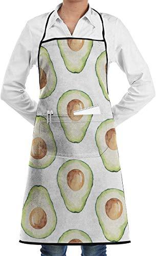YJWLO Unisex-Küchenschürze mit Taschen zum Kochen, Backen, Basteln, Gartenarbeit, Grillen