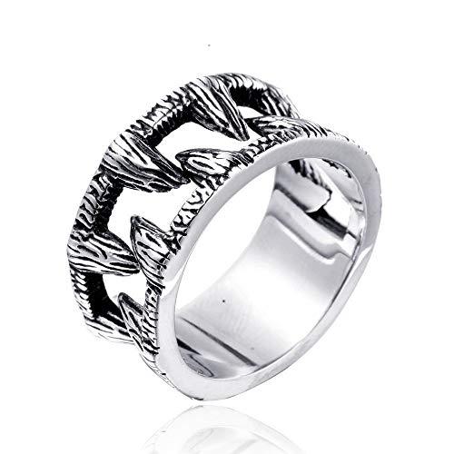 Anillo de Motociclista Hip Pop Bike Para Hombre Los dientes de titanio de acero chapado en hombres simples joyería del anillo del punk creativa anillo de la vendimia del regalo de los hombres Combinan