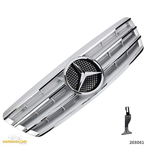GermanCarParts GCP-203041 Grill Silber Chrom
