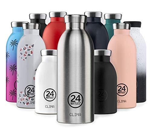 24Bottles - Botella térmica para el agua | Botella termo reutilizable de acero inoxidable sin BPA | 24 horas frío 12 horas caliente | Clima Bottle | Diseño original italiano (Tuxedo Black, 850 ml)