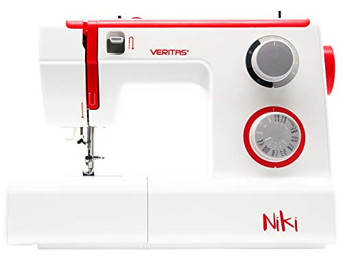 VERITAS Niki - Mechanische Nähmaschine mit starkem Motor für Anfänger, Fortgeschrittene & Profis; 23 Stichprogramme, Freiarm und LED-Näh-Licht