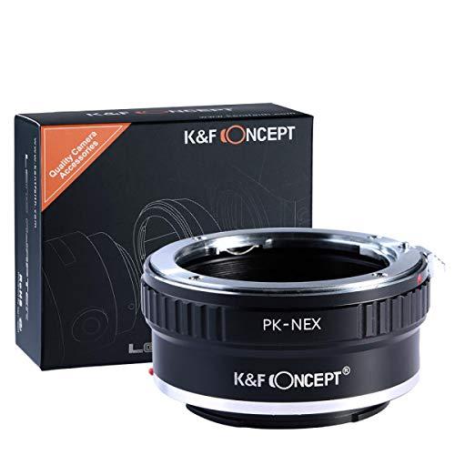 K&F Concept Pentax K Adapter Sony ∙ Kompatibel mit Sony E-Mount Kamera (NEX/Alpha) ∙ Objektivadapter für Pentax K Objektiv