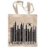 My Custom Style® Shopper de algodón Natural Modelo New York Barcode. Tamaño 38