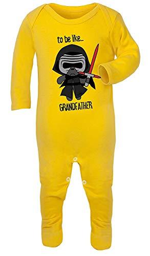 Darth Vader te worden als grootvader Star Wars Print Kostuum Footies 100% Katoen