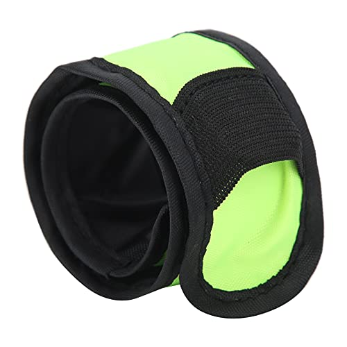 Eulbevoli Cinturón de Seguridad Reflectante, Brazalete con luz de Fibra óptica de PU para Correr de Noche al Aire Libre(Amarillo)