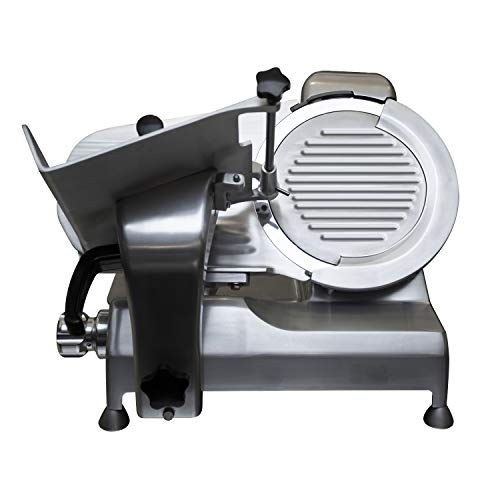 Premium Commercial Heavy Duty Manual Meat Slicer - KITMA Stainless Steel Electric Cheese Deli Food Slicer with 12'' Blade, Adjustable Thickness Control for Restaurant, Kitchen