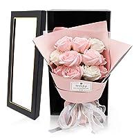 ソープフラワー 母の日 花束 フラワーギフト Rorsweet 誕生日 お花 プレゼント女性 お見舞い 記念日 ピンク(Minna)