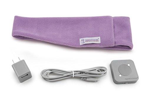 AcousticSheep SleepPhones sin Esfuerzo Fleece cómodos Auriculares con Banda de sujeción para Dormir, Yoga, meditación y relajación, Bluetooth con Carga inalámbrica, Lana, Lavanda Tranquila, Me