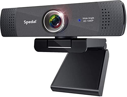 Webcam streaming YouTube OBS Twitch compatibile Skype Wide Angle Webcam Full HD 1080P PC Camera con microfono Computer Fotocamera compatibile per Mac, PC, laptop, desktop