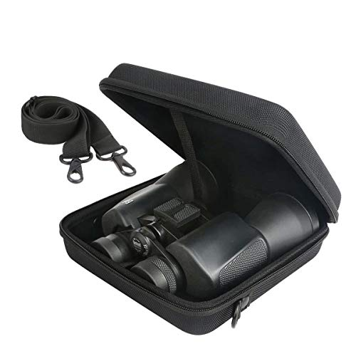 Khanka Hart Tasche Schutzhülle für Olympus Trooper/BRIGENIUS/SkyGenius 10 x 50 DPS-I Fernglas Binocular Ferngläser Etui Case.(Nur Tasche)