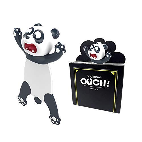 TDCQ 3D Cartoon Tier-Lesezeichen,lesezeichen kinder,bookmark animal,lesezeichen kinder,lesezeichen magnetisch,3D Stereo Cartoon schön Tier Lesezeichen Geschenk für Kinder und Erwachsene (Panda)