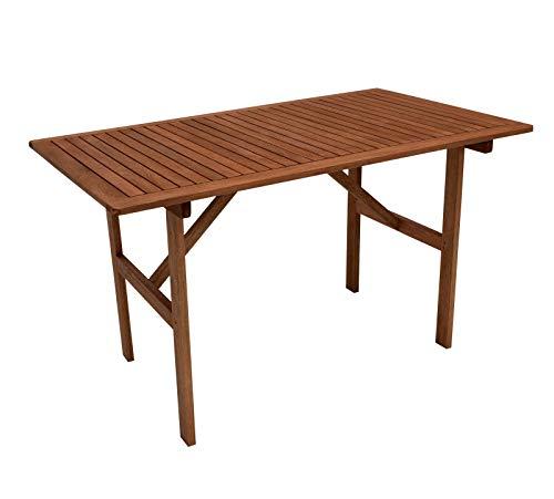 GXK Gartentisch Holztisch Gartenmöbel Tisch 70x120cm, Eukalyptus Holz braun