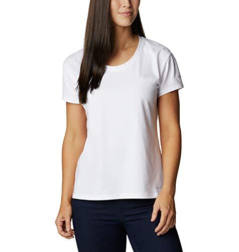 Columbia Sun Trek, T-shirt Tecnica Donna, White, M