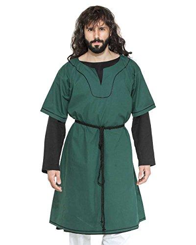 Medieval Renaissance Pirate Viking LARP Mens Costume Eustace Greek Tunic (Small)