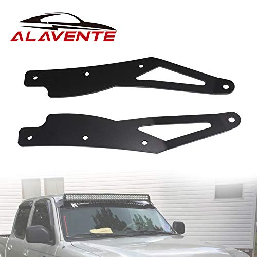 ALAVENTE 42' Curved LED Light Bar Upper Windshield Mounting Brackets Replacement for Toyota Tacoma 2005 - 2015 (w/ Factory Roof Rack Only)