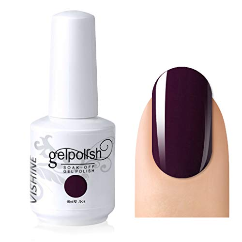 Vishine Gelpolish Professional UV LED Soak Off Varnish Color Gel Nail Polish Manicure Salon Plum(1417)