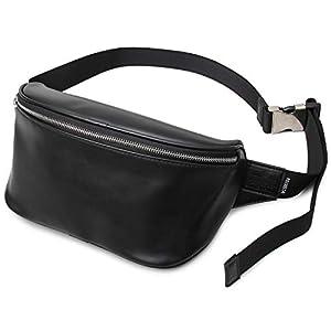 [レジスタ] ウエストポーチ ボディバッグ メンズ レディース 大容量 大きめ おしゃれ 斜めがけ サフィアーノ 旅行 丈夫 黒 スムース
