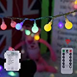 Globe String Lights, 58.56ft 100 LEDs Battery Operated Fairy String Lights, Waterproof 8 Modes Pertect for Outdoor/Indoor, Bedroom, Garden, Christmas Tree [Multicolor] (58.56, Multicolor)
