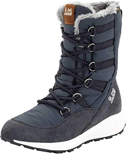 Jack Wolfskin Damen Nevada Texapore HIGH W Wasserdicht Schneestiefel, Blau Dark Blue Off White 1171, 39 EU