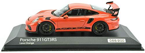 Premium Hobbies / Minichamps Porsche 911 991.2 Lava Orange GT3 RS 1:43 Diecast Car 413067040