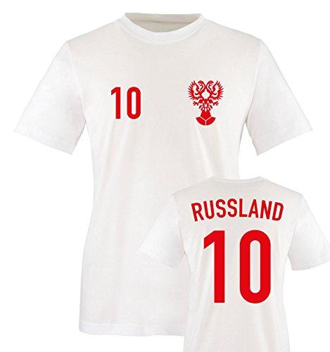 EM 2016 - Trikot - EM 2016 - Russland - 10 - Kinder T-Shirt - Weiss/Rot Gr. 122-128
