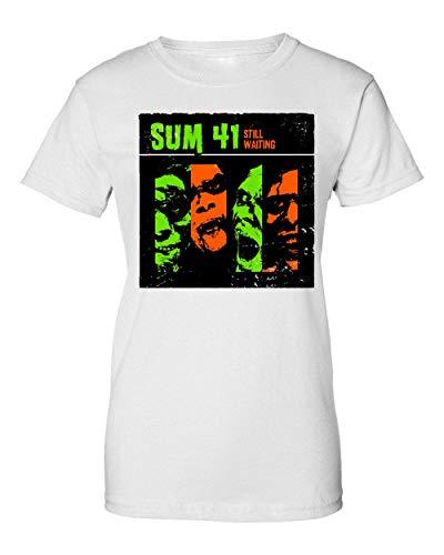 Wicked Design Sum 41 Still Waiting Album Cover T-Shirt da Donna Small