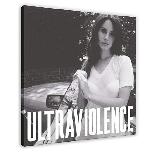 Couverture d'album American Singer Lana Del Rey Ultraviolence (luxe) sur toile, pour décoration de chambre à coucher, de sport, de bureau, de chambre, 30 × 30 cm, cadre style 1