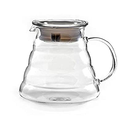 Hiware 600ml Coffee Server, Standard Glass Coffee Carafe, Coffee Pot, Clear by Hiware