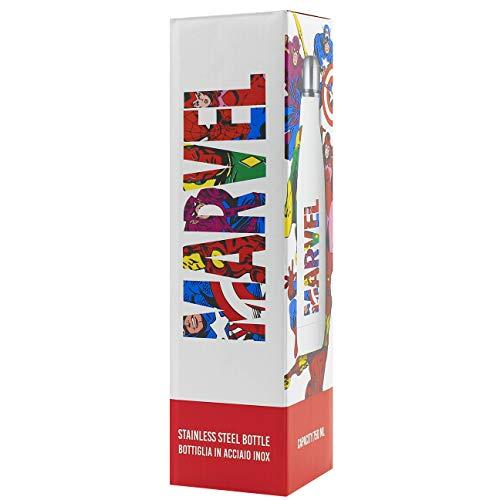 Puro – Bottiglia isotermica Marvel in acciaio inox, 750 ml, borraccia per bambini, leggera e impermeabile, bottiglia riutilizzabile senza BPA