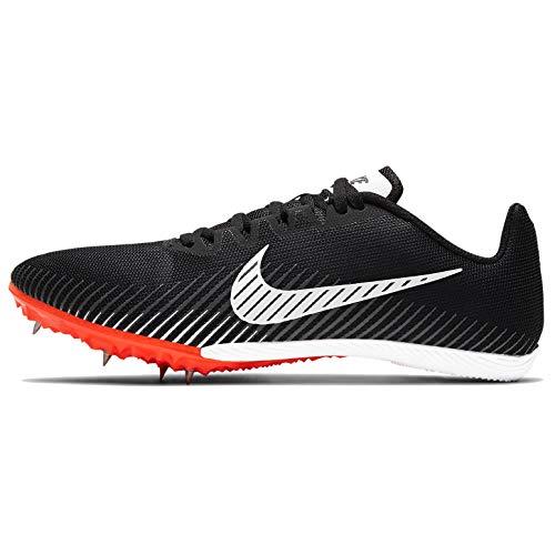 Nike Zoom Rival M 9 Track Spike, Scarpa da Atletica Leggera Uomo, Black/White-Iron Grey-Hyper Crimson, 40.5 EU