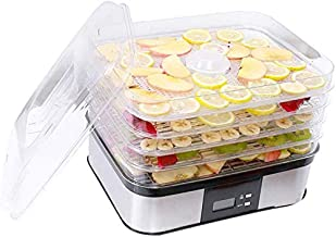 Food Dehydrator Home 6 Tray Large Capacity, Snacks Fruit and Vegetable Dryer Dry Fruit Machine, More Healthy Nutrition, Electric 7 Files
