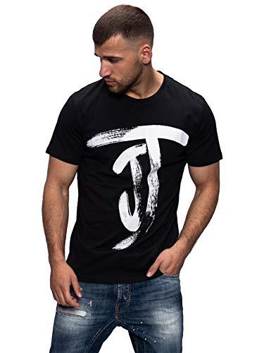 JACK & JONES Herren T-Shirt Kurzarmshirt Top Print Shirt Casual Basic O-Neck (M, Tap Shoe/Style 2)
