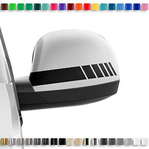 Grau Spiegelstreifen Spiegel Aufkleber Folie Streifen Dekor Au/ßenspiegel R/ückspiegel Autoaufkleber Digitaldruck Waben D100