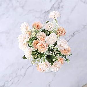 Silk Flower Arrangements Fake Flower 15 Heads Artificial Silk White Snowflake Small Lilac Flowers for Wedding Home Decoration Gypsophila Christmas Decor Artificial Roses Flower