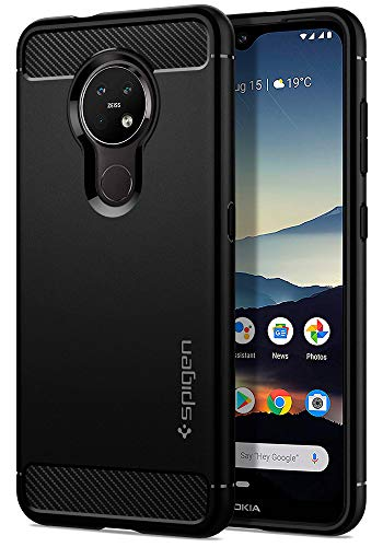 Spigen Rugged Armor Designed for Nokia 7.2 / Desigend for Nokia 6.2 Case (2019) - Matte Black