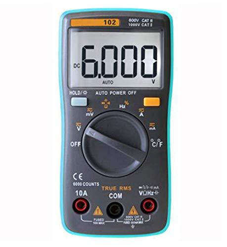 BEVANNJJ ZYY Multímetro Digital RM102 101 409B DC AC Resistencia medidor de tensión de Corriente del diodo de Temperatura probador del amperímetro del voltímetro, RM102